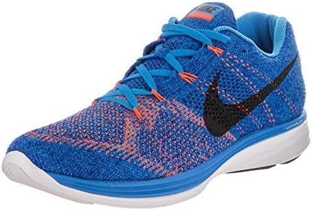 e6ecee098585 Nike Mens Flyknit Lunar3 Running Shoe (Photo Blue Black-Concord-White