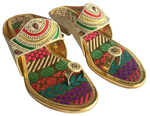 Women Indian Shoes Ethnic Shoes Wedding Shoes Party Shoes Khussa Jutti Multicolor 70MN7fJb