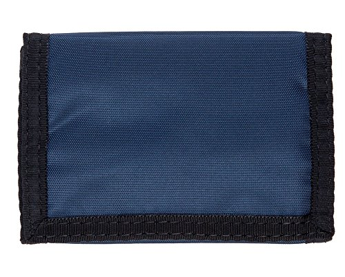 Nylon Trifold Hook & Loop Wallet W/1 Clear Id Pocket - Navy Blue - Made In - And 1 Wallet Nylon
