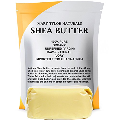 Organic Shea Butter 1 lb (16 Oz) Raw Unrefined Ivory Grade A. Premium Quality Amazing Skin Nourishment, Great For DIY Body Butters Lip Balms Lotions Acne Eczema & Stretch Marks By Mary Tylor Naturals (Natural Shea Butter compare prices)