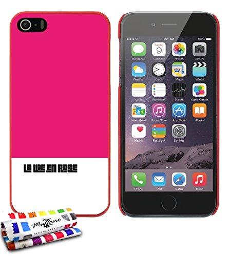 Ultraflache weiche Schutzhülle APPLE IPHONE 5 [Leben in rosa] [Rot] von MUZZANO + STIFT und MICROFASERTUCH MUZZANO® GRATIS - Das ULTIMATIVE, ELEGANTE UND LANGLEBIGE Schutz-Case für Ihr APPLE IPHONE 5