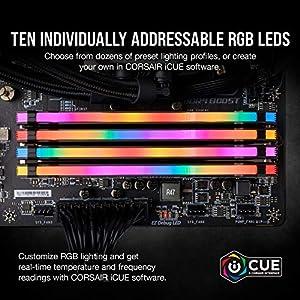 Corsair Vengeance RGB PRO 16GB (2x8GB) DDR4 3200MHz C16 LED Desktop Memory, Black