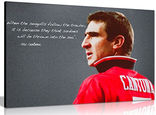 Eric Cantona Manchester United Sardines Quote Canvas Wall Art Picture Print (30x20in)
