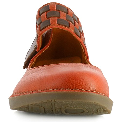 Art 1210 Bergen Memphis Petalo Flat Mary Jane Shoes Brown/Orange OFoihaJzj