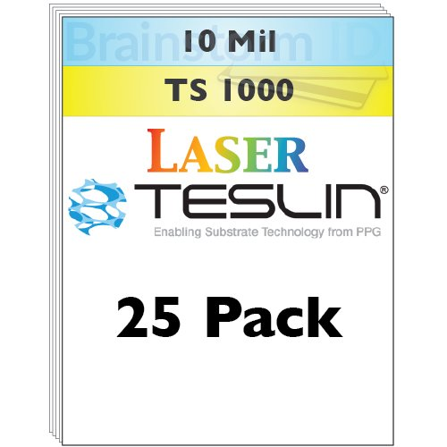 Laser Teslin Paper - 25 Sheets by Brainstorm ID