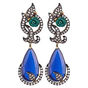 Aurora Women's Alloy Sapphire Earring