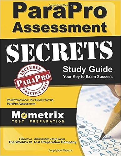 parapro assessment secrets study guide: paraprofessional test review ...