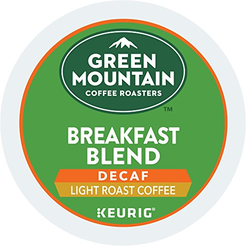 Green Mountain Coffee Breakfast Mixture Decaf Keurig Single-Serve K-Cup Pods, Light Roast Coffee, 72 Count (6 Boxes of 12 Pods)