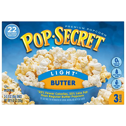 Pop Secret Popcorn, Light Butter, 3 pk, 3 oz (Butter Light Flavor)