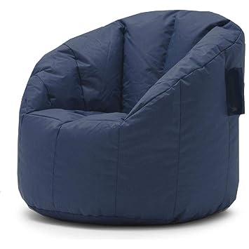 Outstanding Amazon Com Beanbag Chair Big Low Comfortable Blue Soft Machost Co Dining Chair Design Ideas Machostcouk