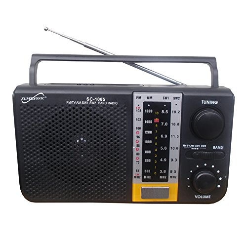 Supersonic SC-1085 5 Band AM/FM/SW1/SW2/TV Radio