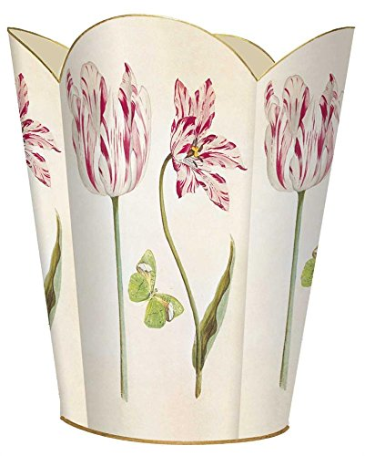 (WB422 - Tulips and Butterflies Wastepaper Basket)