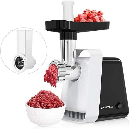 Sameboo - Picadora de carne eléctrica de 600 W, máquina para embutir salchichas, robot de cocina 2