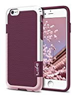 iPhone 6 Plus Case, LoHi iPhone 6s Plus Case Hybrid Impact 3 Color Shockproof Rugged Case Soft TPU & Hard PC Bumper [Extra Front Raised Lip] Anti-slip Cover for Apple iphone 6s Plus 5.5 Inch - Red
