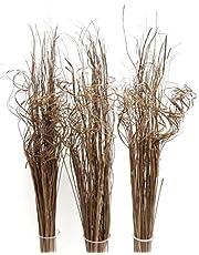 3 bunkar unikt indiskt naturligt vågigt gräs 90 cm högt cirka över 100 stjälkar per bunt