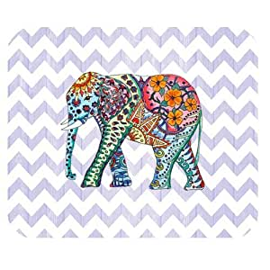 Colorful Elephant and Chevron Personalized Rectangle Mouse Pad