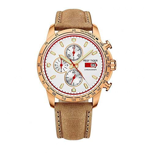 - LiBetyd RT Sport Watch for Men Chronograph Quartz Watch with Italian Calfskin Leather and Super Luminous Watch-RGA3029PWS