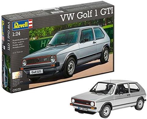Revell Modellbausatz Auto 1:24 - Volkswagen VW Golf 1 GTI im Maßstab 1:24, Level 4, originalgetreue Nachbildung mit vielen Details, 07072