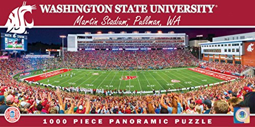 MasterPieces NCAA Washington State Cougars Stadium Panoramic Jigsaw Puzzle, 1000-Piece (Huskies Photograph Washington)