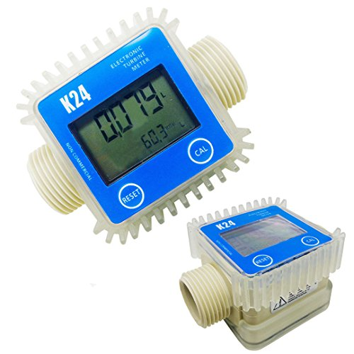 WILLAI 1pcs K24 Digital Fuel Flow Meter Blue Turbine Meter For Chemicals Water by WILLAI