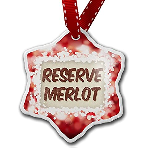 Christmas Ornament Reserve Merlot Wine, Vintage style, red - Neonblond - Reserve Merlot Red Wine