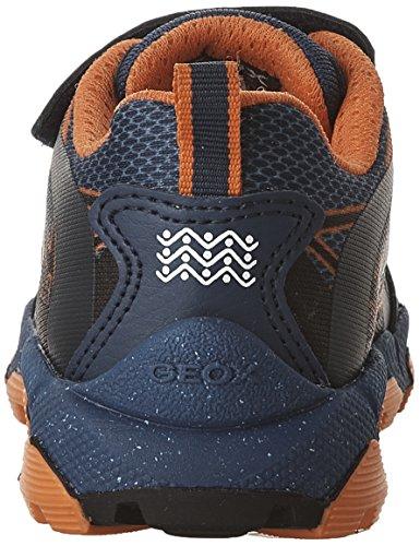 Geox J Magnetar Boy a, Zapatillas para Niños Azul (NAVY/ORANGEC0820)