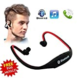 Wireless Bluetooth On-ear Sports Headset Headphones with Micro Sd Card Slot and FM Radio with free stainless steel egg mould inside gift..