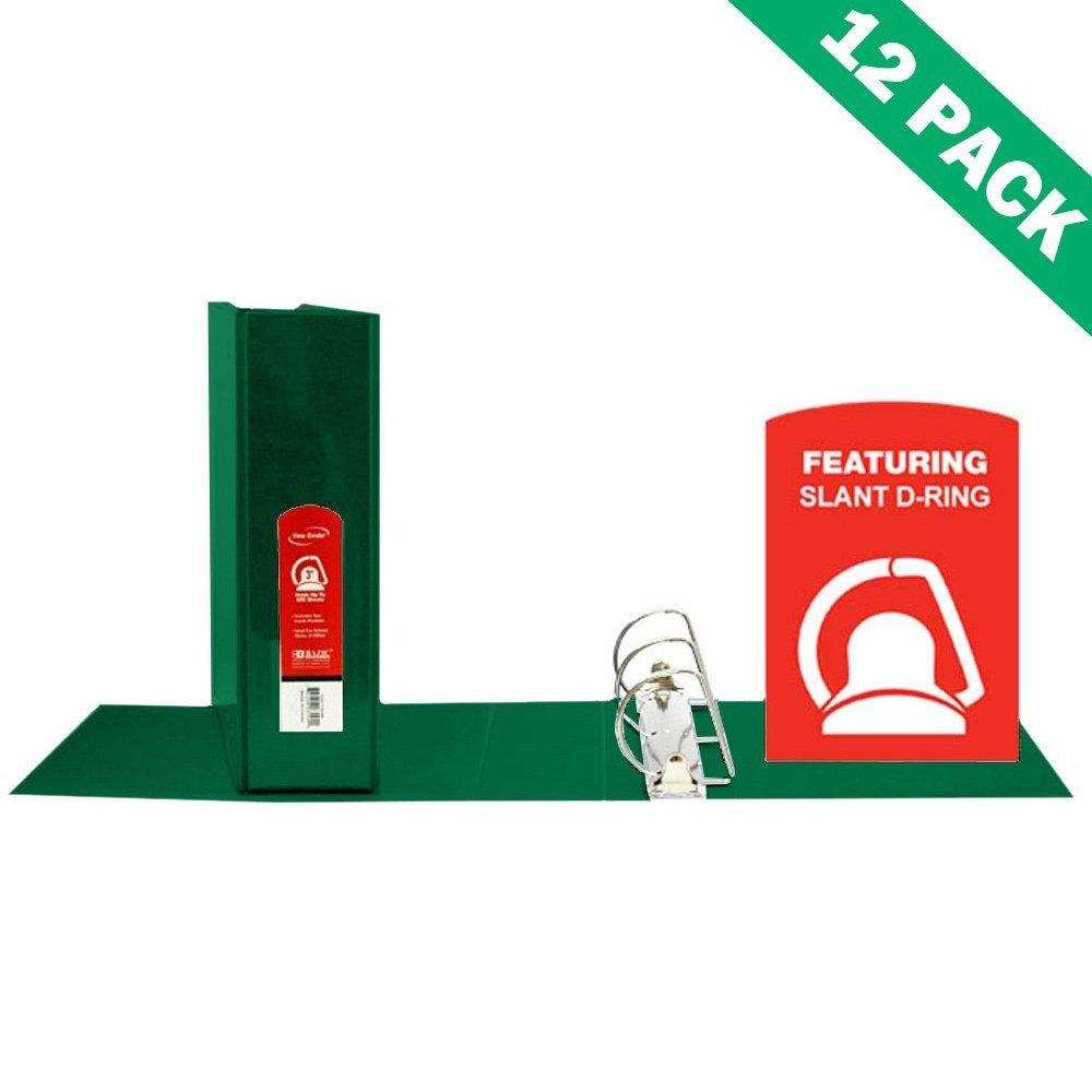 3-ring Binder, School Office 3 Inch Pocket Binder Green - Case Of 12