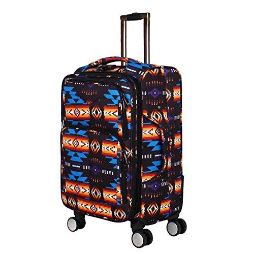 Southwest Design (Navajo Print) 21'' Carry On Luggage (Black) by Nu Trendz Signature