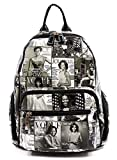 Glossy Magazine Cover Collage Backpack Michelle Obama Handbag Fashion Backpack (7-Black/White) Review