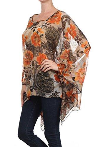 Para Nachtigall Camisas lerche Mujer Orange Túnica a57 tZ0wZ