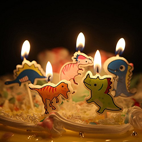 Ecape Cartoon Animal Party Candles Cute Dinosaurs Candles