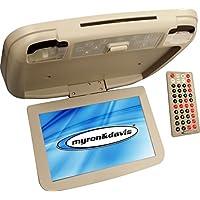 Myron & Davis SDM108SHXMIR Slim 10.2-Inch Widescreen DVD/USB/SPSC Port Overhead Monitor with Miracast (Shale)
