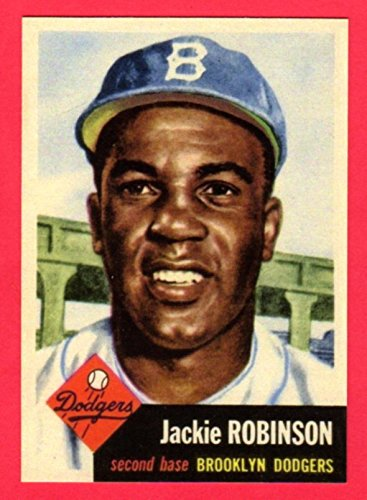 Jackie Robinson 1953 Topps Baseball Reprint Card (Dodgers) ()