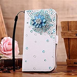 SHOUJIKE Diamond Flowers PU Leather Full Body Case with Stand and Card Slot for SAMSUNG GALAXY S4 I9500