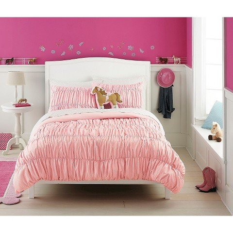 (Circo Basic Collection Pink Dot Banded 7 Piece Bed Set -)