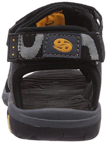 Dockers by Gerli 36JL60 - sandalias abiertas de material sintético niño gris - Grau (grau/schwarz 201)