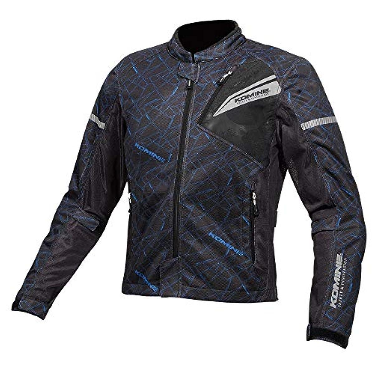 [해외] 코미네 KOMINE 오토바이 프로텍트 풀 메쉬 재킷 아우터 프로텍터 통기성 CRUSH BLUE/BLACK L JK-140 07-140