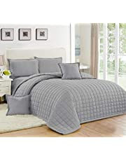Compressed Two-Sided Color 6 Pieces Comforter Set,Size, Silver