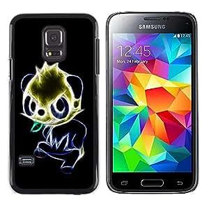 LECELL -- Funda protectora / Cubierta / Piel For Samsung Galaxy S5 Mini, SM-G800, NOT S5 REGULAR! -- Glowing Panda --