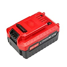 Flylinktech 4000mAh Porter Cable 20v Max Lithium ion Rechargeable Battery Replacement for Porter Cable PCC685L PCCK602L2