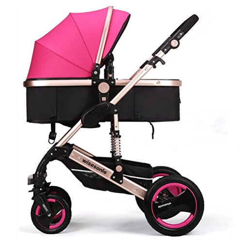 YBL High landscape baby stroller Baby carriage Can sit and lie down Two-way implementation Folding suspension Suitable for 0-3 year old baby Four seasons available The choice of city