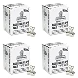 Elmer's Bulldog Clips, Steel, 1/4 Inch Capacity, 1 Inch, Nickel-Plated, 36/Box (2000), 4 Packs