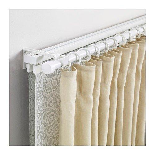 Ikea vidga Juego de rieles para cortinas en color blanco; 3 ...