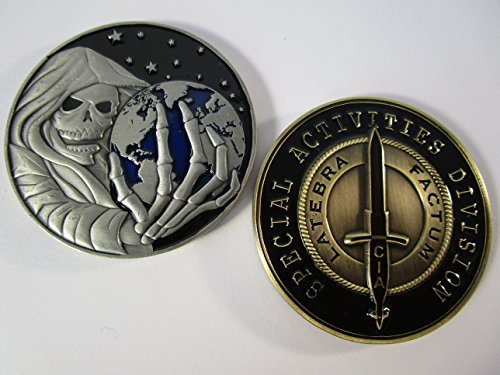 Central Intelligence Agency Special Activities Division SAD SOG Grim Reaper Challenge Coin