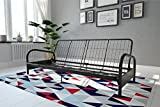 DHP Vermont Metal Futon Frame, Classic Design, Full Sized - Black