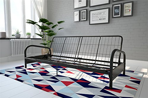 DHP Vermont Metal Futon Frame, Classic Design, Full Sized - Black by DHP (Image #1)