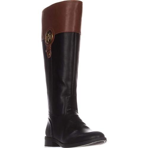 bd9989339d1 TOMMY HILFIGER Womens Ilia-2 Almond Toe Knee High Fashion Boots ...