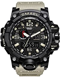 Men's Sports Outdoor Waterproof Military Watch Date Multi...