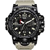 KXAITO Men's Sports Outdoor Waterproof Military Watch Date Multi Function Military LED Alarm...